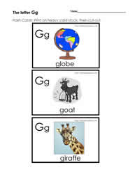 The Letter G Flashcards