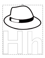 The Letter H Coloring Page