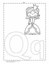 The Letter Q Coloring Page