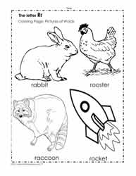 The Letter R Coloring Pictures