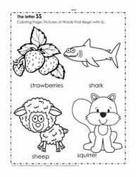 The Letter S Coloring Pictures