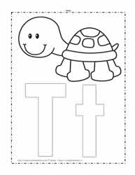 The Letter T Coloring Page