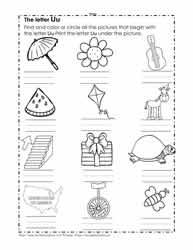 The letter u worksheets color the u pictures altavistaventures Gallery