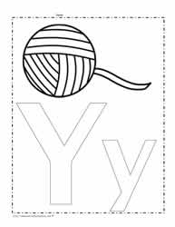 The Letter Y Coloring Page