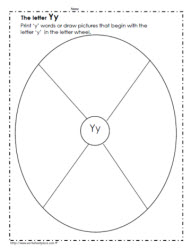 The Letter Y Worksheets
