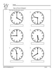 Tellling-Time-Half-HourWorksheets