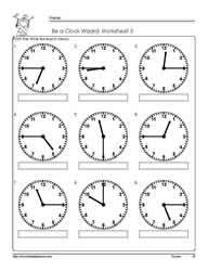 Telling-Time-to-The Quarter-Worksheet-3