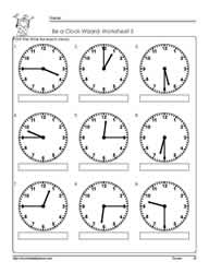 Telling-Time-to-The Quarter-Worksheet-5