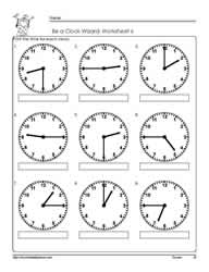 Telling-Time-to-The Quarter-Worksheet-6