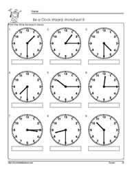 Telling-Time-to-The Quarter-Worksheet-8
