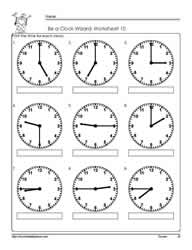 Telling-Time-to-The Quarter-Worksheet-10