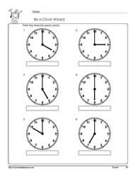 Telling-Time-To-The-Hour-Worksheet-1