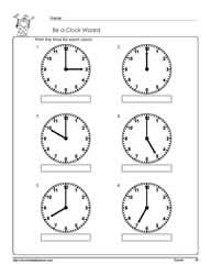 Telling-Time-To-The-Hour-Worksheet-2