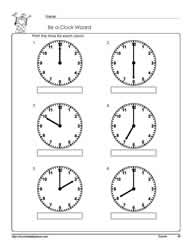 Telling-Time-To-The-Hour-Worksheet-3
