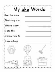 ake Word Family Sentences