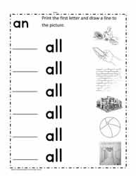 all Word Family Worksheet