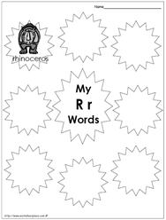My Rr Words