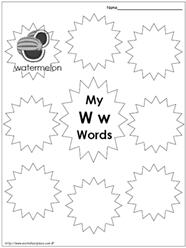 My Ww Words