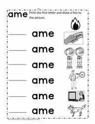 ame Words Worksheet