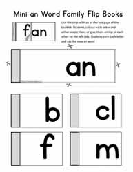 an Word Family Flip Booklet