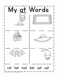 at Word Family Worksheet