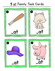 at Word Family Task Cards