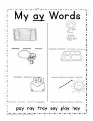 ay Words Worksheet