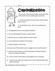 Capital Letters Worksheet 3