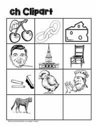 Clipart for ch Digraphs
