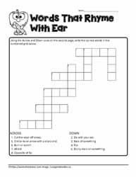 ear Crossword