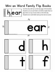 A Mini Flip Book For The Word Family ear