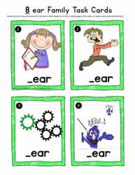 ear Word Family Task Cards