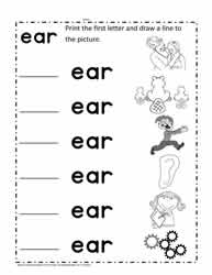 ear Words Worksheet
