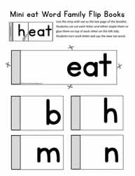 eat Word Family Flip Book