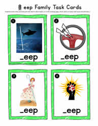eep Word Family Task Cards