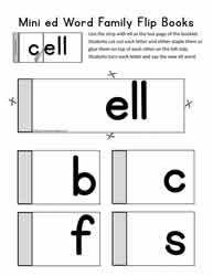 ell Word Family Flip Book