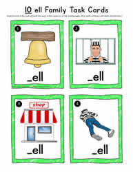 ell Word Family Task Cards