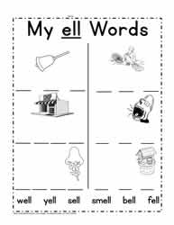 ell word Family Worksheets