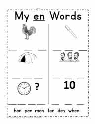 en Word Family Printable