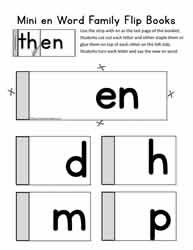 Word Family Flipbook For en
