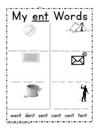ent Word Family Worksheets