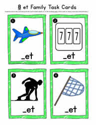 et Word Family Task Cards