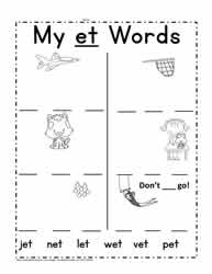 et Words Worksheet