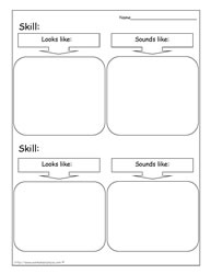 Skill Worksheet To Support Goals