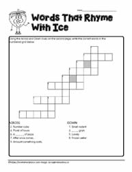ice Crossword