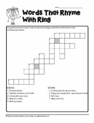 ing Crossword