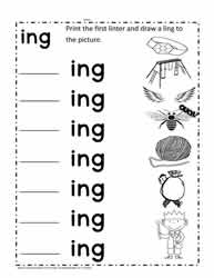 ing Rhyming Words Worksheet