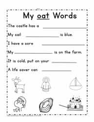 Sentences For oat Words