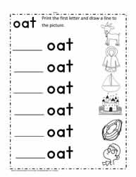 oat Words Worksheet