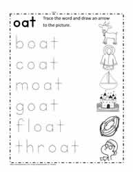 Trace The oat Words